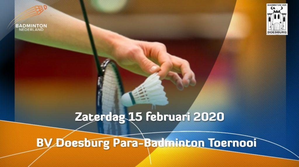 affiche BV Doesburg parabadminton 2020